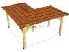 Rohový altán s valbovou střechou.