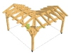 Rohový altán se sedlovou střechou.